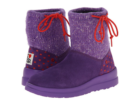 UGG - Knit Slouchy Mini (Grape Candy Knit) Women's Boots