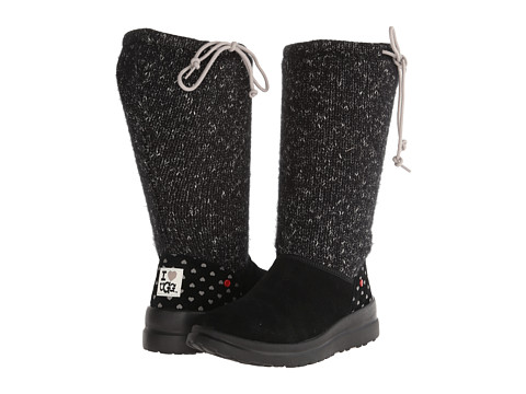 UGG - Knit Slouchy (Black Knit) Women's Boots