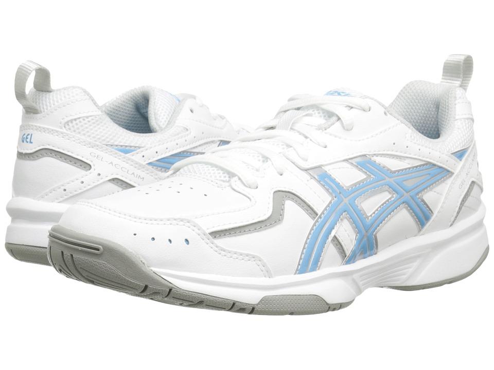 ASICS - GEL-Acclaim (White/Silver/Sky Blue) Women's Running Shoes