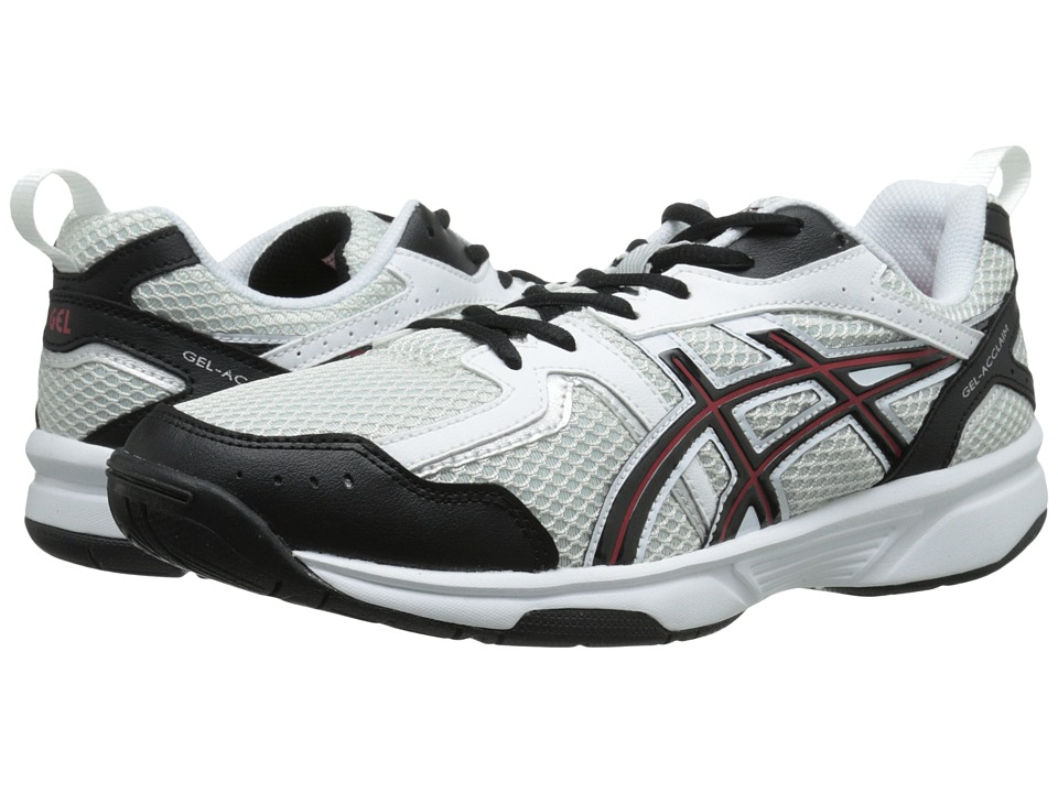 ASICS - GEL-Acclaim (White/Red/Black) Men's Cross Training Shoes