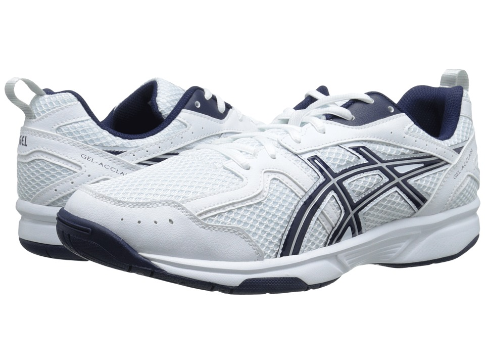 ASICS - GEL-Acclaim (White/Navy/Snow) Men's Cross Training Shoes