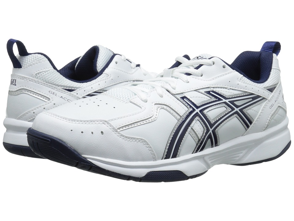 ASICS - GEL-Acclaim (White/Navy/Silver) Men's Cross Training Shoes