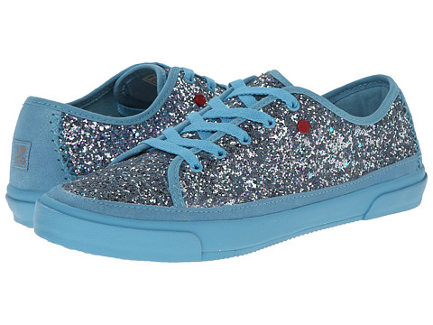 UGG - Lace Up Glitter (Powder Blue Eyeshadow Textile) Women
