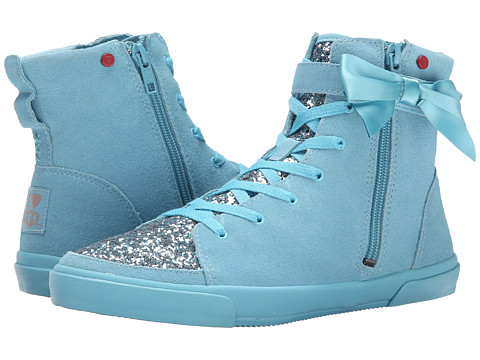 UGG - Hi Top Glitter (Powder Blue Eyeshadow Suede) Women's Lace up casual Shoes