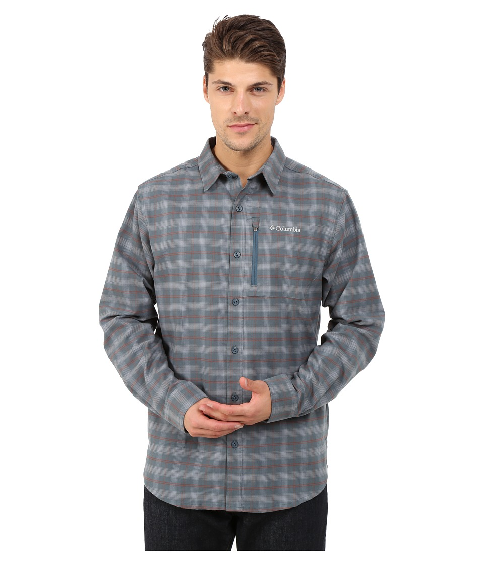 Columbia - Royce Peak Flannel Long-Sleeve Shirt (Everblue Plaid) Men's Clothing