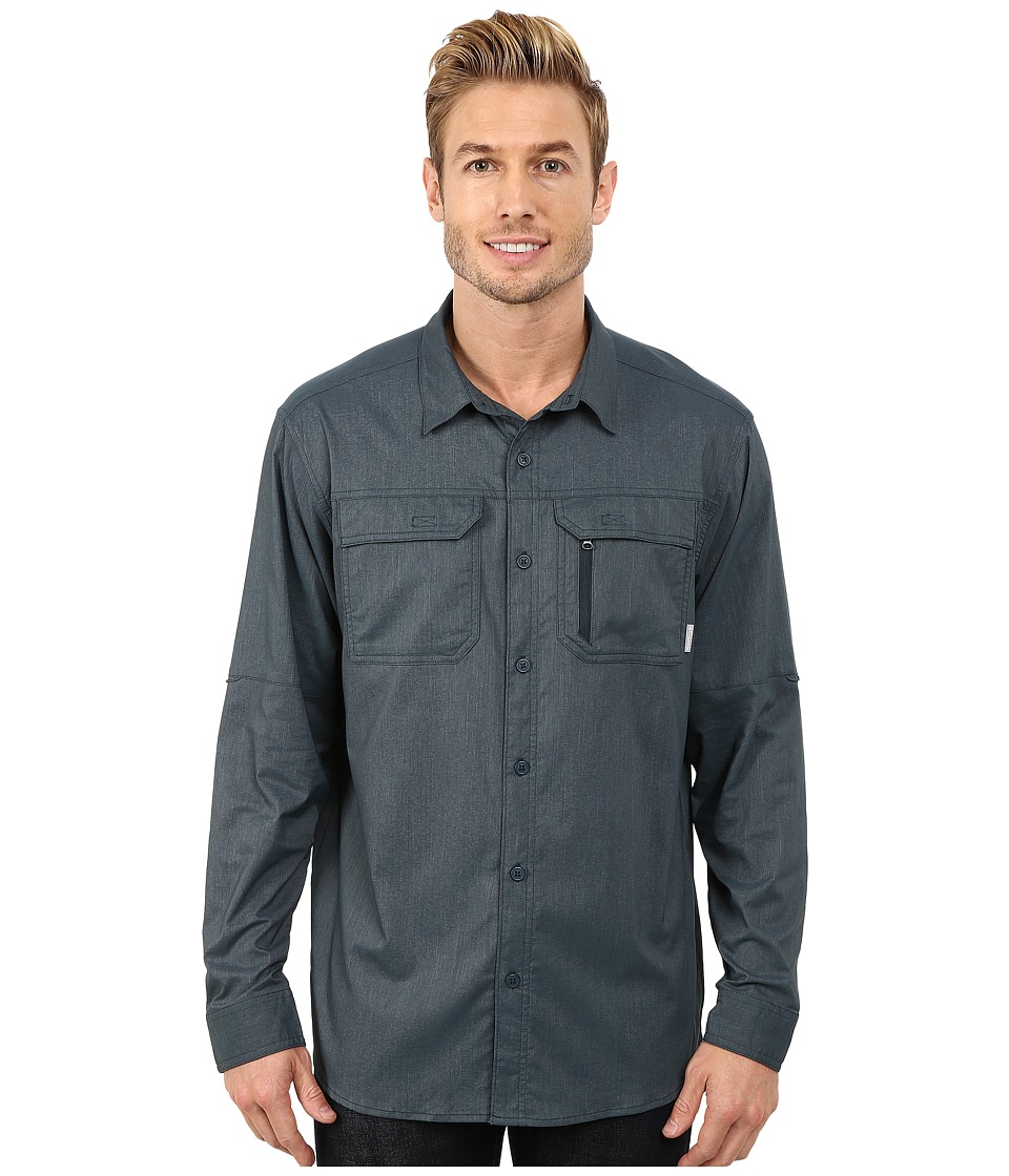 Columbia - Royce Peak II L/S Shirt (Night Shadow) Men's Long Sleeve Button Up