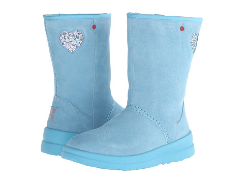 UGG - Kisses Short Glitter (Powder Blue Eyeshadow Suede) Women
