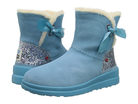 UGG - Knotty Glitter (Powder Blue Eyeshadow Suede) Women's Boots