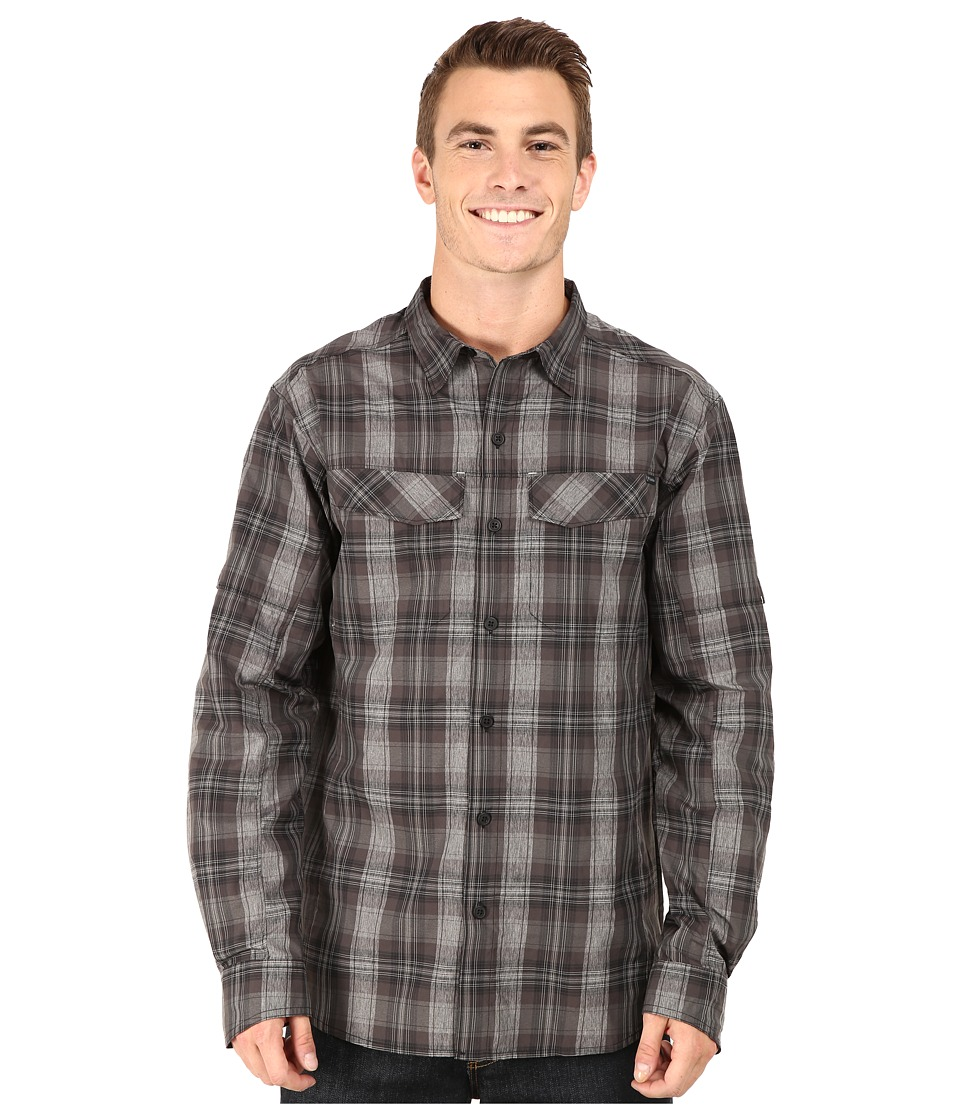 Columbia - Silver Ridge Plaid L/S (Black Plaid) Men's Long Sleeve Button Up