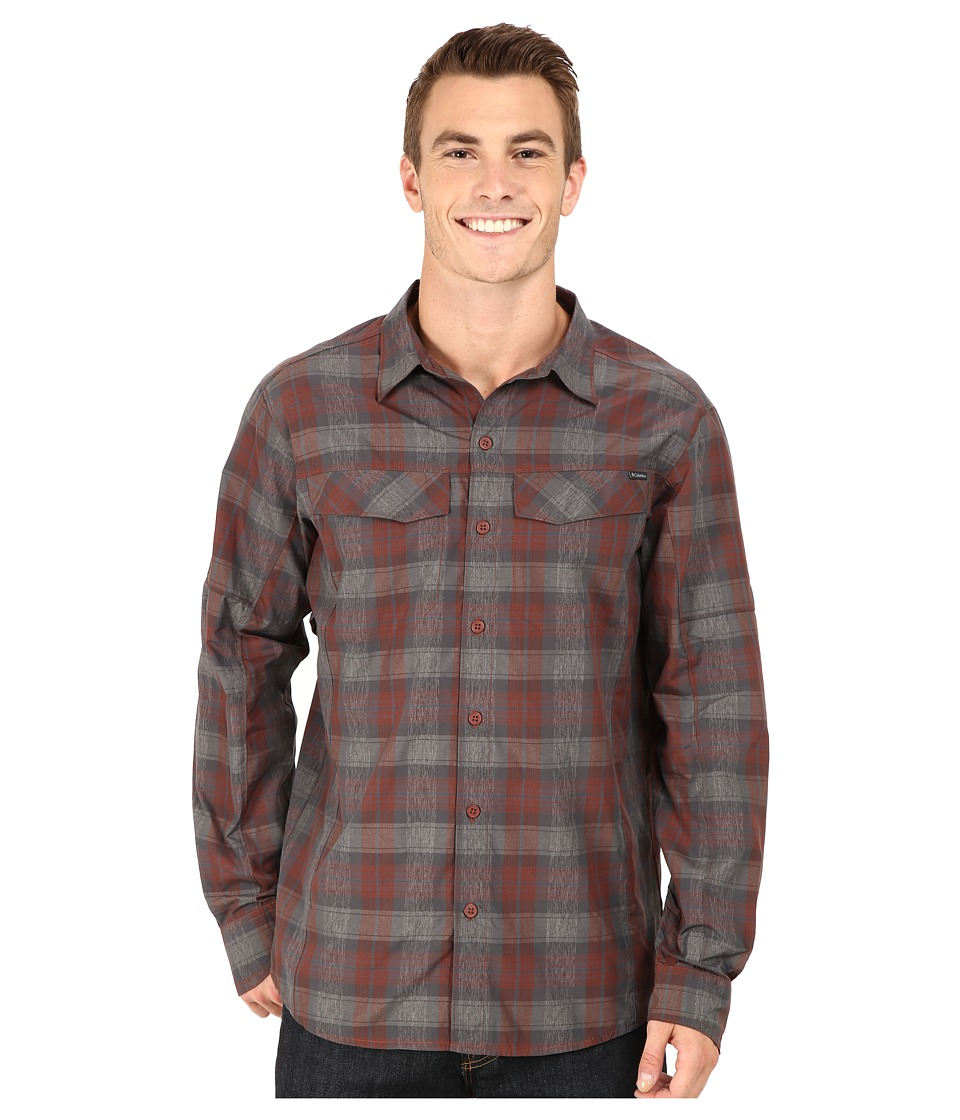 Columbia - Silver Ridge Plaid L/S (Red Rocks Plaid) Men's Long Sleeve Button Up