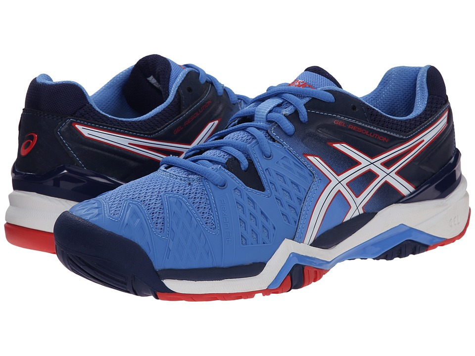 ASICS GEL-Resolution 6 (Powder Blue/White/Hibiscus) Women