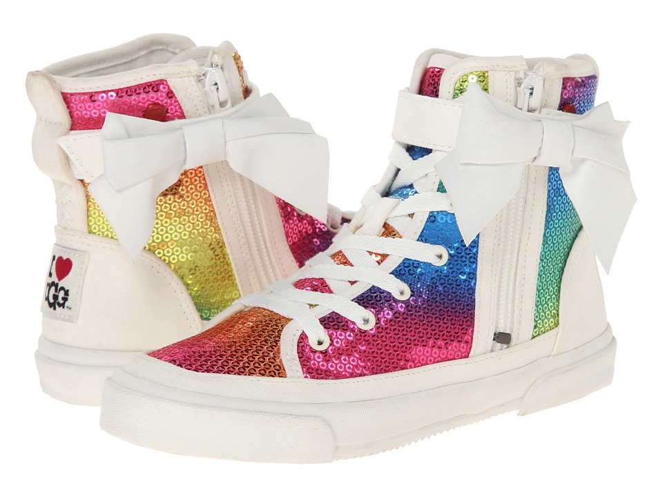 UGG - Hi Top Sparkles (Rainbow Textile) Women's Lace up casual Shoes
