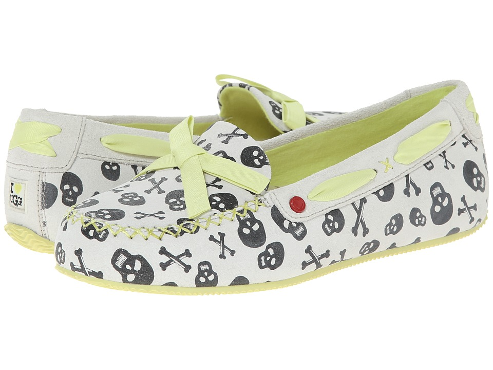 UGG - Belle Skulls (Coconut Suede) Women's Slip on Shoes