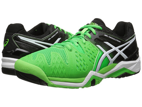 ASICS - GEL-Resolution 6 (Flash Green/White/Black) Men's Shoes