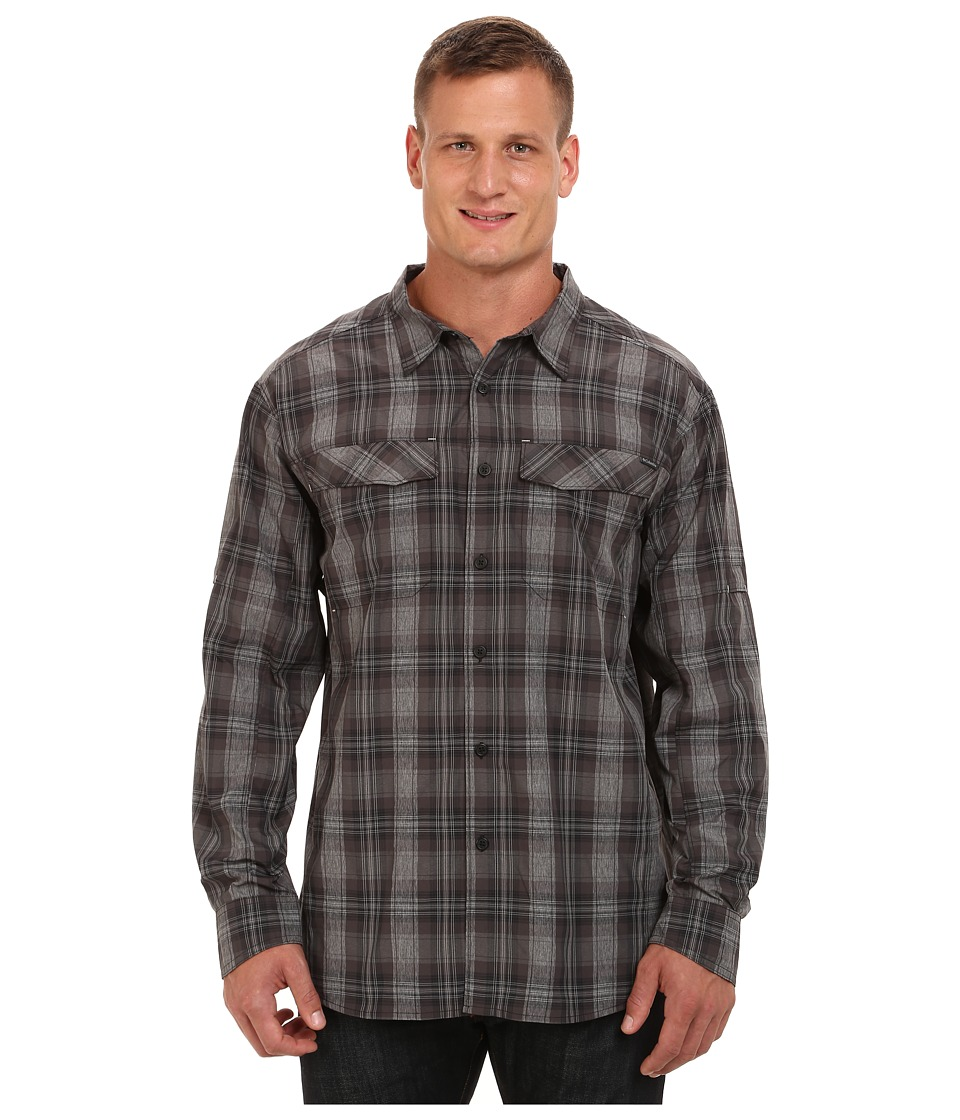 Columbia - Big Tall Silver Ridge Plaid L/S (Black Plaid) Men's Long Sleeve Button Up