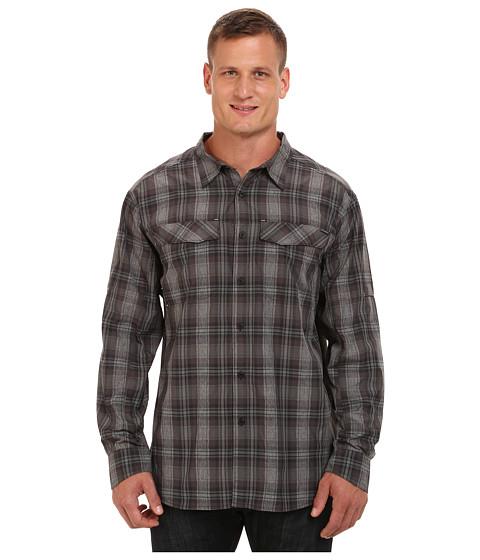 Columbia - Big Tall Silver Ridge Plaid L/S (Black Plaid) Men's Long Sleeve Button Up