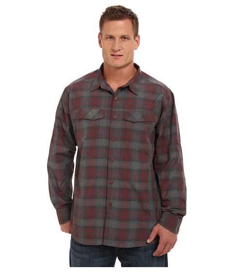 Columbia - Big Tall Silver Ridge Plaid L/S (Red Rocks Plaid) Men