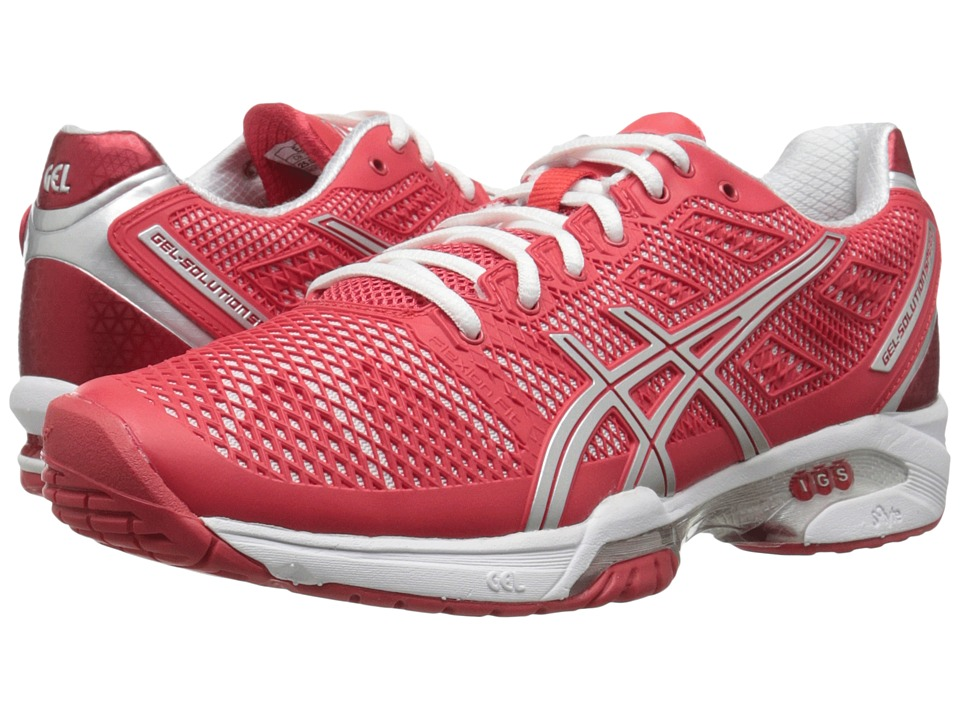 ASICS Gel-Solution Speed 2 (Hibiscus/Silver/White) Women