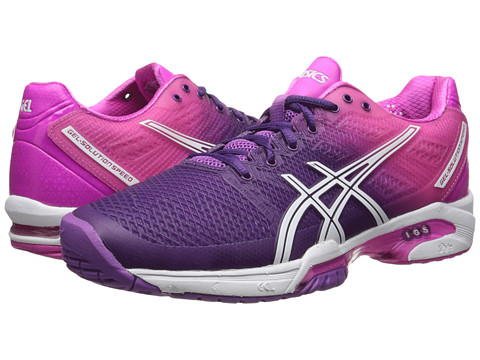 ASICS - Gel-Solution Speed 2 (Purple/White/Hot Pink) Women's Tennis Shoes