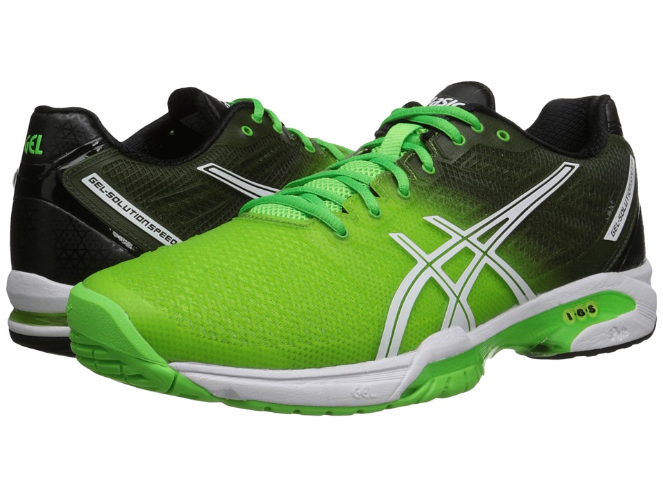 ASICS - Gel-Solution Speed 2 (Flash Green/White/Black) Men