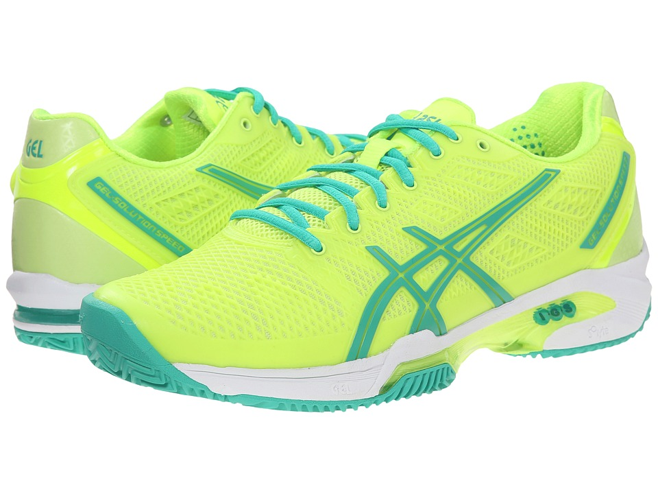 ASICS - Gel-Solution Speed 2 Clay Court (Flash Yellow/Mint/Sharp Green) Women's Tennis Shoes