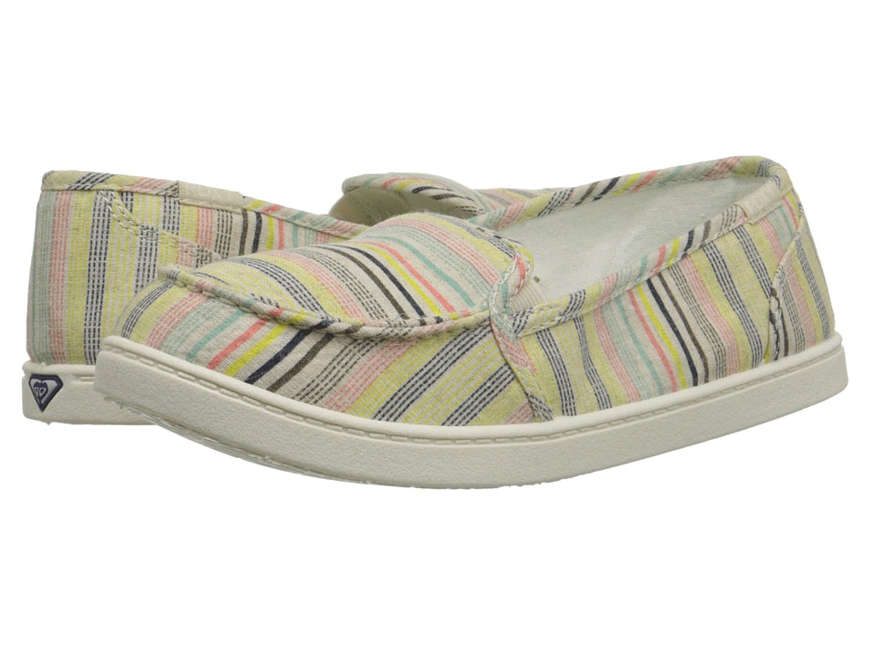 Roxy - Lido III (Tan Pinstripe) Women's Slip on Shoes