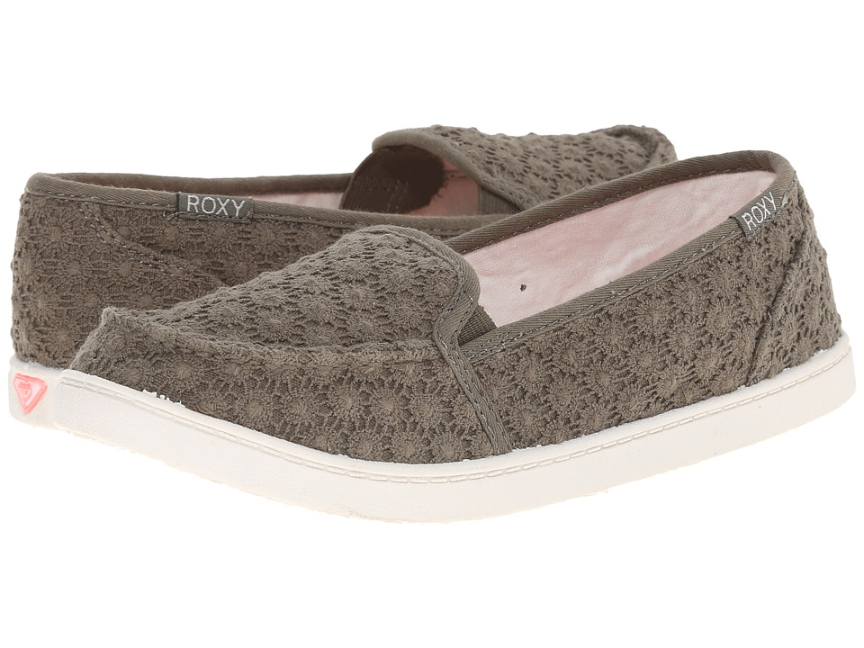 Roxy - Lido III (Light Olive) Women's Slip on Shoes