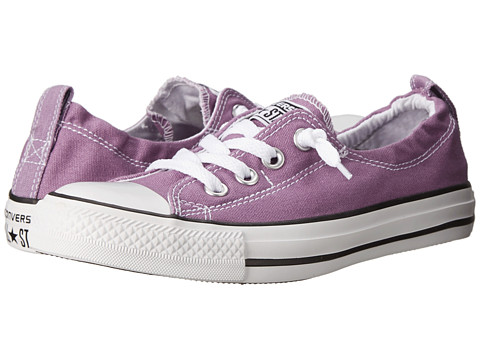 Converse - Chuck Taylor All Star Shoreline Seasonal Color Slip (Dusty Lilac/White/Black) Women's Lace up casual Shoes