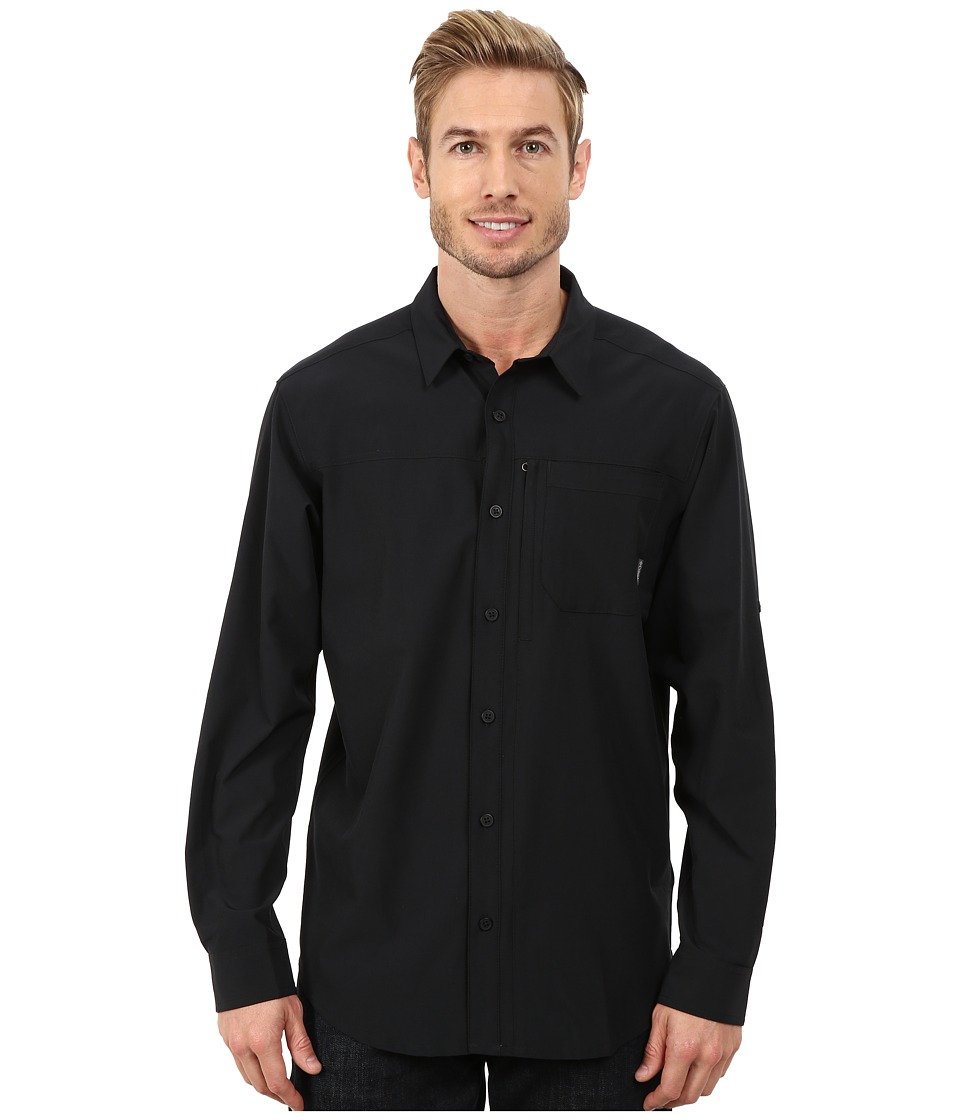 Columbia - Global Adventure III Long Sleeve Shirt (Black) Men's Long Sleeve Button Up