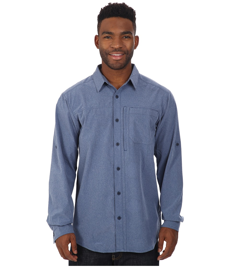 Columbia - Global Adventure III Long Sleeve Shirt (Carbon Heather) Men's Long Sleeve Button Up