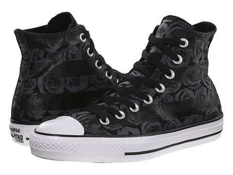 Converse - Chuck Taylor All Star Rose Print Hi (Black/Thunder/White) Women's Lace up casual Shoes