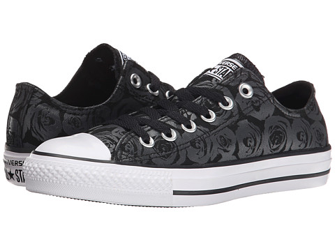 Converse - Chuck Taylor All Star Rose Print Ox (Thunder/Black/White) Women's Lace up casual Shoes