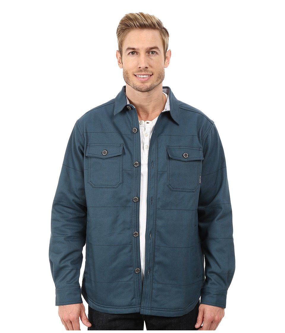 Columbia - Log Splitter Shirt Jacket (Everblue) Men's Long Sleeve Button Up