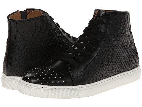THAKOON ADDITION - Elga High Top (Black Nappa Studs/Black Embossed Leather) Women