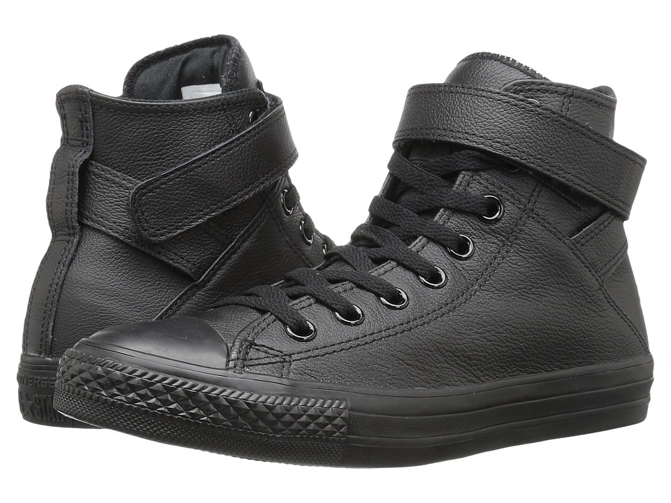 Converse - Chuck Taylor All Star Brea Mono Leather Hi (Black/Black/Black) Women's Lace up casual Shoes