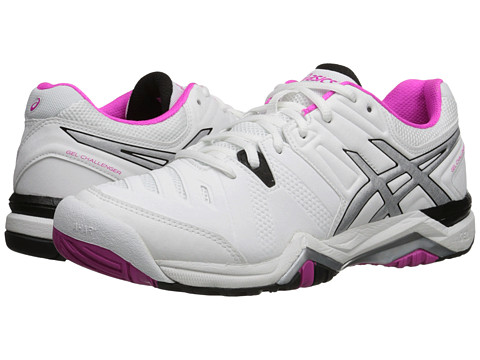 ASICS - GEL-Challenger 10 (White/Pink Glo/Black) Women's Shoes
