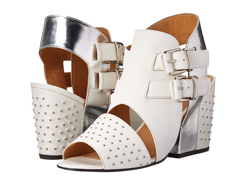 THAKOON ADDITION - Martha 1 (White Nappa Studs/Silver Metallic) High Heels