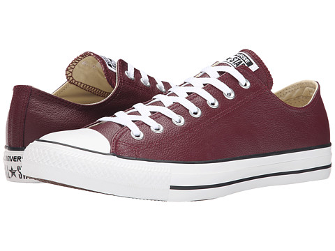 Converse - Chuck Taylor All Star Seasonal Leather Ox (Deep Bordeaux) Lace up casual Shoes