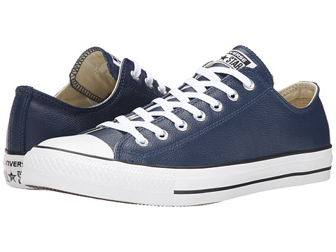 Converse - Chuck Taylor All Star Seasonal Leather Ox (Nighttime Navy) Lace up casual Shoes