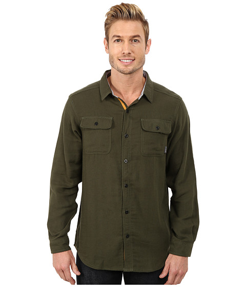 Columbia - Falldale Double Cloth Long Sleeve Shirt (Surplus Green) Men's Long Sleeve Button Up