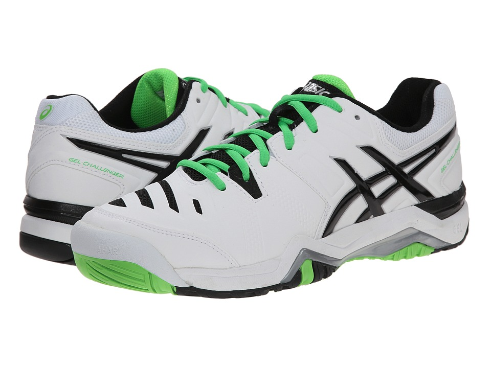 ASICS - GEL-Challenger 10 (White/Silver/Flash Green) Men's Tennis Shoes