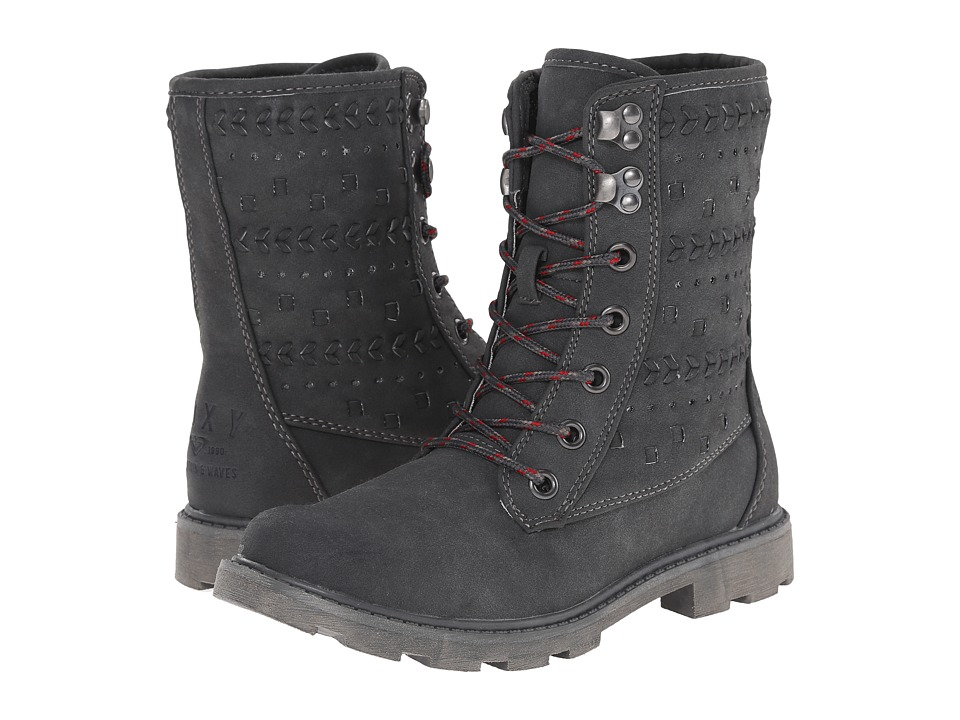 Roxy - Pike (Charcoal) Women's Lace-up Boots