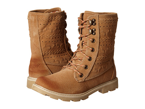 Roxy - Pike (Tan) Women's Lace-up Boots