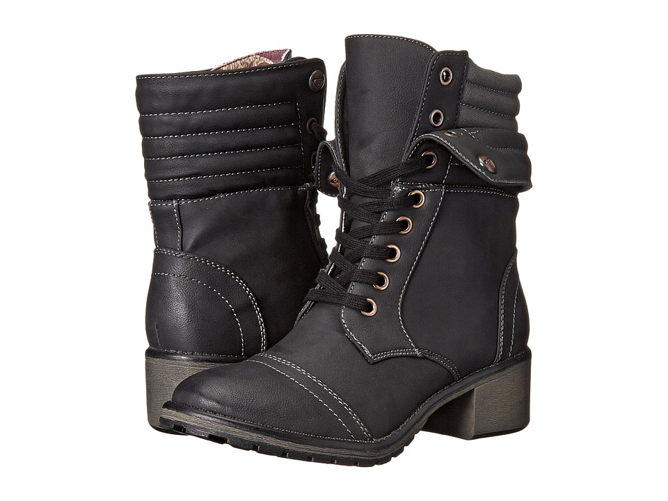 Roxy - Charley (Black) Women's Lace-up Boots