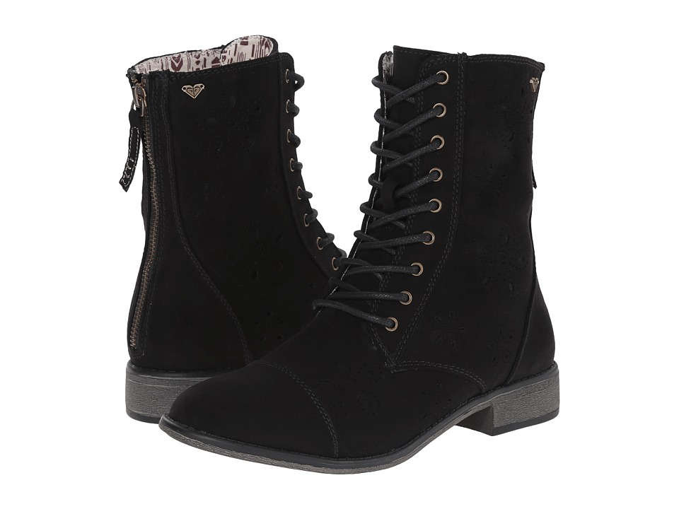 Roxy - Field (Black) Women's Lace-up Boots