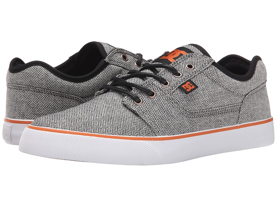 DC - Tonik TX SE (Grey/Orange/Grey) Men's Skate Shoes