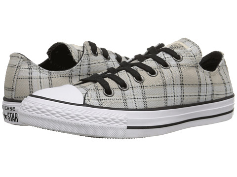 Converse - Chuck Taylor All Star Plaid Ox (Papyrus/Black/Vaporous Grey) Women