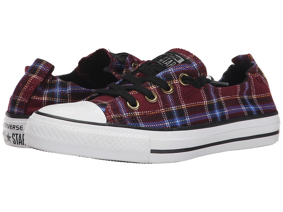 Converse - Chuck Taylor All Star Shoreline Plaid Slip (Deep Bordeaux/Black/White) Women