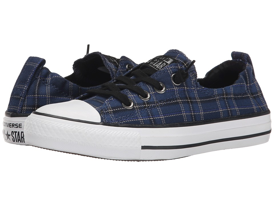 Converse - Chuck Taylor All Star Shoreline Plaid Slip (Navy/Black/White) Women