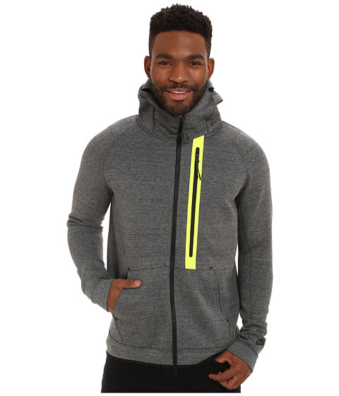 Nike - Tech Fleece Hero Full-Zip Jacket 1mm (Tumbled Grey/Black/Heather/Black) Men